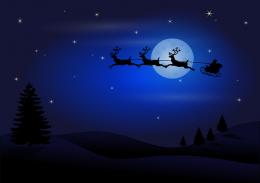 ดวงจันทร์ เงา ซานตาคลอส ภาพจาก Pixabay